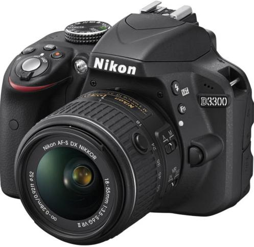 (Factory Refurbished) Nikon D3300 with 18-55mm VRI Lense