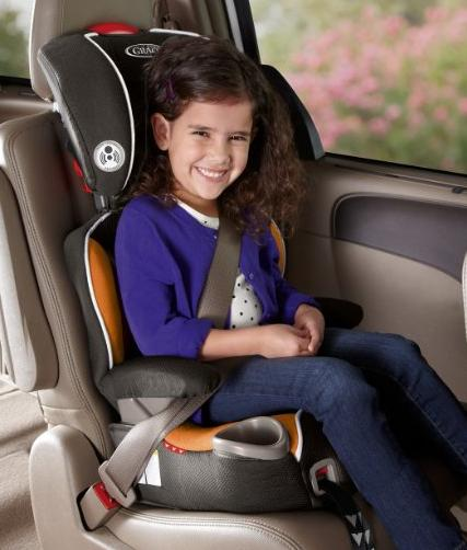 Graco Affix Youth Booster Car Seat with Latch System, Tangerine