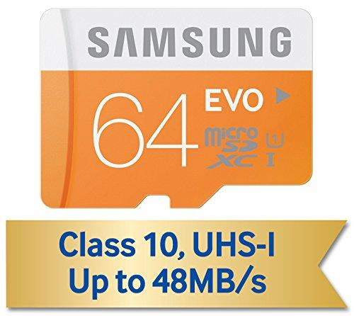 $17.57 Samsung 64GB EVO Class 10 microSD Card with Adapter