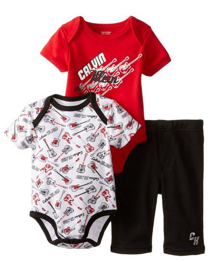 Calvin Klein Baby-Boys Newborn Red Body and Printed Body with Pants