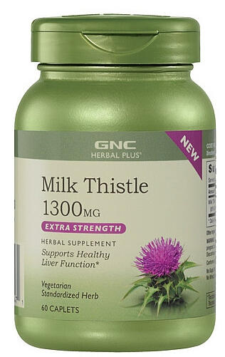 $14.99 GNC Herbal Plus® Milk Thistle 1300 MG 60 Caplets