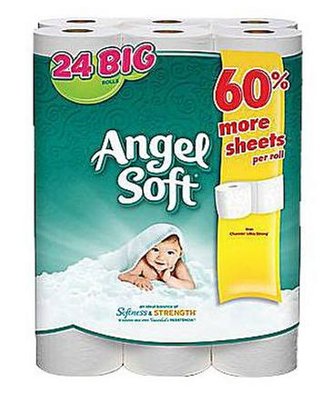 $5.99 Angel Soft 2-Ply Big Rolls Bath Tissue, 24 Rolls/Pack