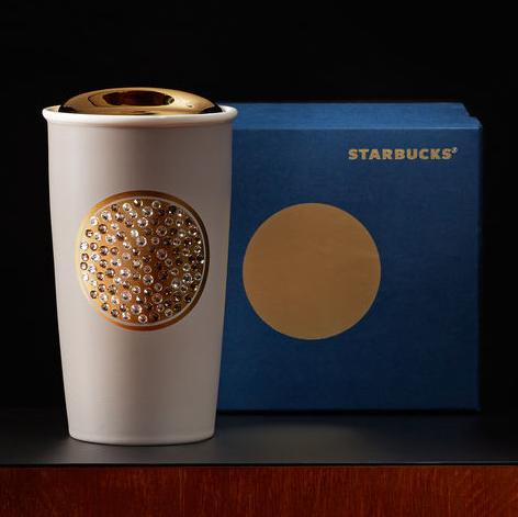 Starbucks Swarovski® Anniversary Double Wall Traveler, 12 fl oz