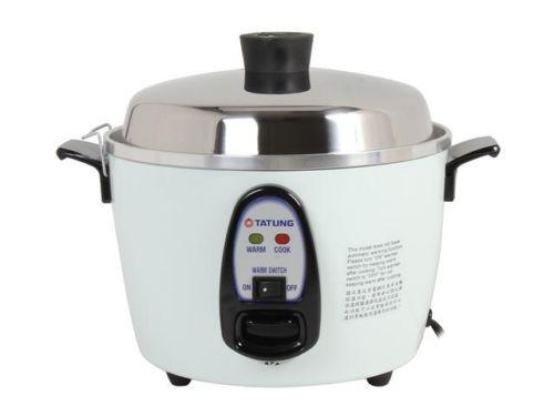 Tatung TAC-6G(SF) White 6 cup uncooked/ 12 cup cooked Rice Cooker/Steamer with S