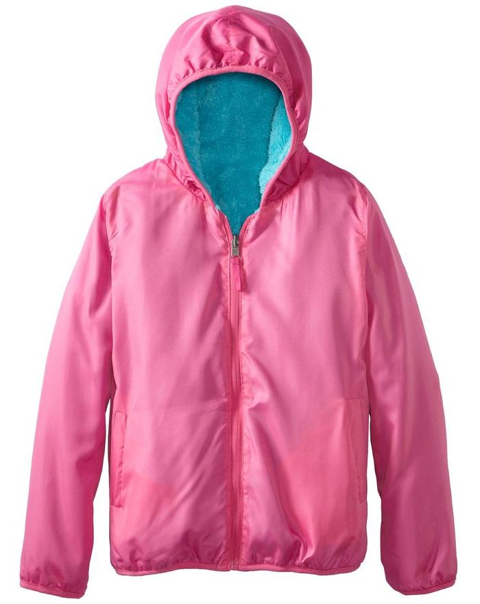 Pink Platinum Big Girls' Sherpa Reversible Jacket