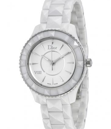 DIOR VIII White Ceramic and Stainless Steel Ladies Watch
