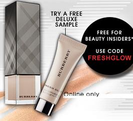 Free Deluxe Sample of Burberry Fresh Glow Luminous Fluid Base with $25 Purchase @ Sephora.com