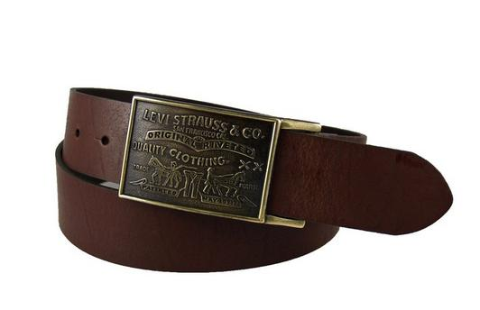 Levi's Men's 38MM Plaque Bridle Belt With Snap Closure