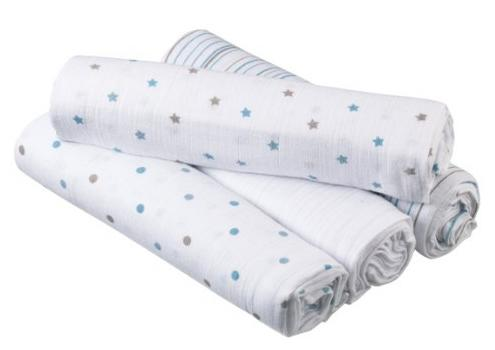 Aden by aden + Anais Swaddleplus Oh Boy!, 4-Pack