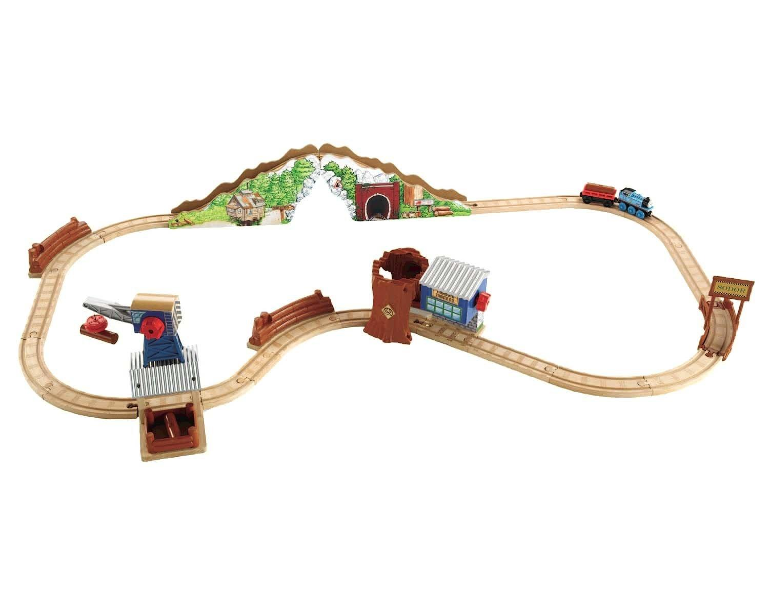 Thomas Wooden Railway - Tidmouth Timber Company Deluxe Figure 8 Set