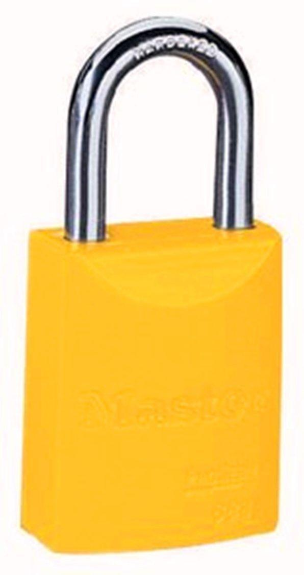 Master Lock 6835YLW Safety Series Padlock, Aluminum Body, 2-Inch, Yellow
