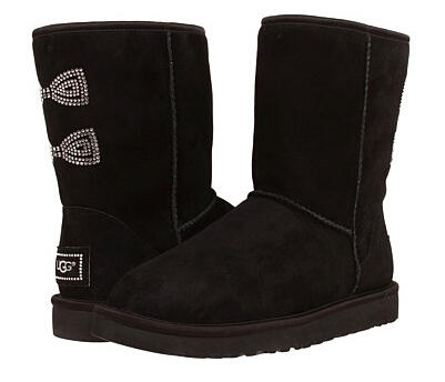 UGG Classic Short Crystal Bow
