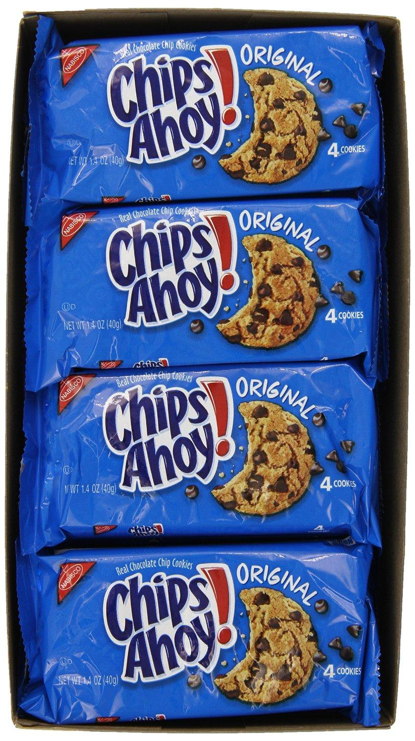 Chips Ahoy! Original Chocolate Chip Cookies, 1.4 Ounce, (Pack of 12)