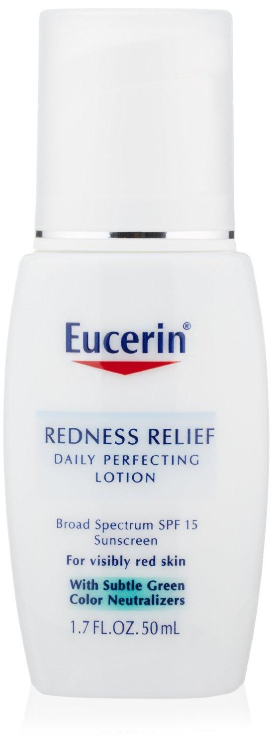 Eucerin Redness Relief Daily Perfecting Lotion, Broad Spectrum SPF 15, 1.7 Ounce