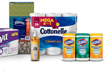 $10 Off $50 + Free $5 GC Select Household Essentials at Target
