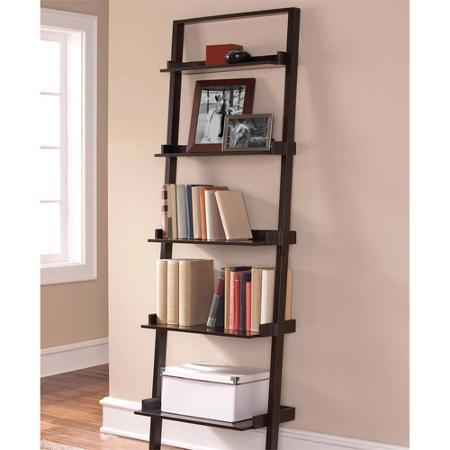 Leaning Ladder 5-Shelf Bookcase