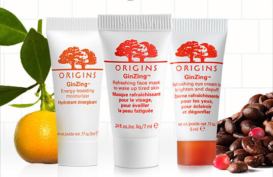 Free GinZing ™ Trio Samples with Any $35 Purchase @ Origins