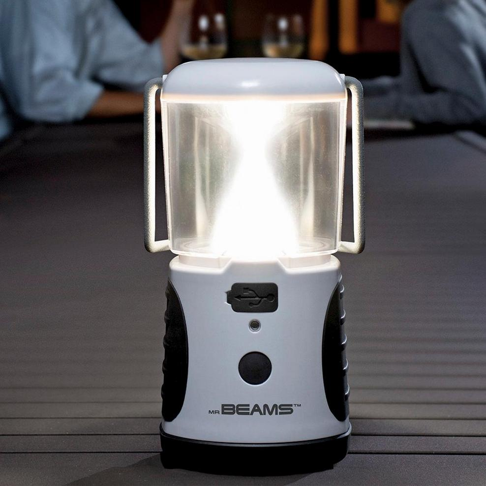 Mr. Beams UltraBright Weatherproof LED Lantern with USB Backup Battery Charger
