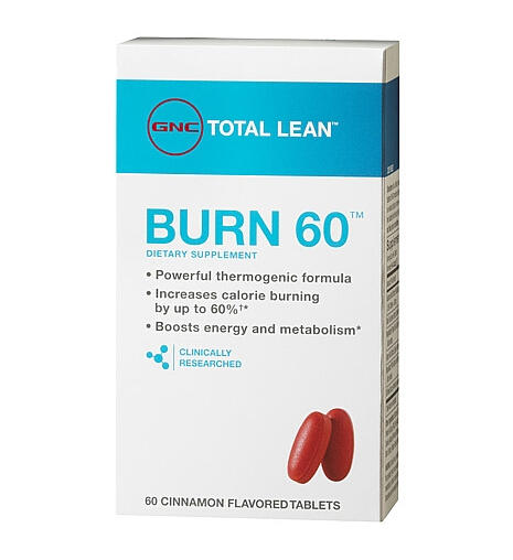 $9.99 GNC Total Lean™ Burn 60™ Cinnamon Flavored 60 Tablets