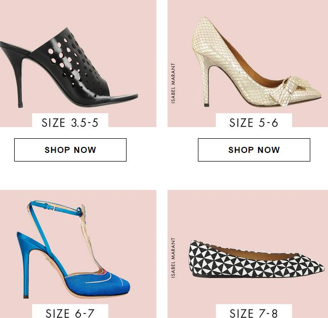 Up to 65% Off + Extra 15% off Women's Shoes @ The Outnet