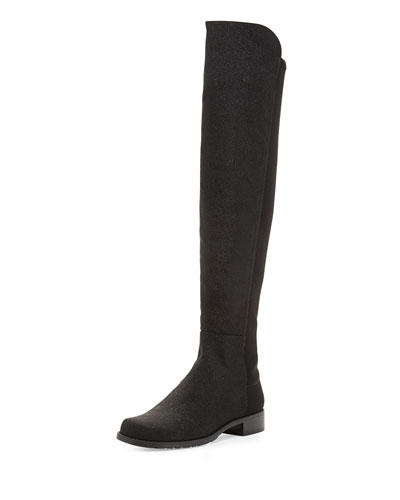 Stuart Weitzman  50/50 Pindot Over-the-Knee Boot