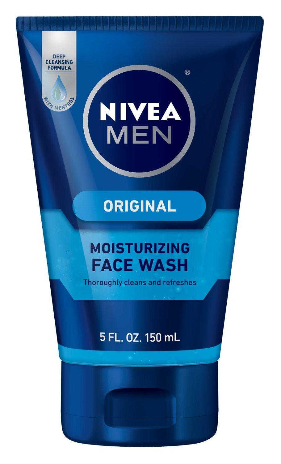 NIVEA MEN Original Moisturizing Face Wash, 5 oz Tube