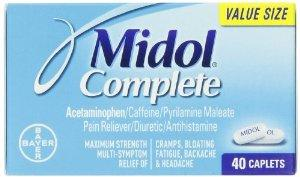 $6.34 Midol Complete Caplets, 40-Count Box