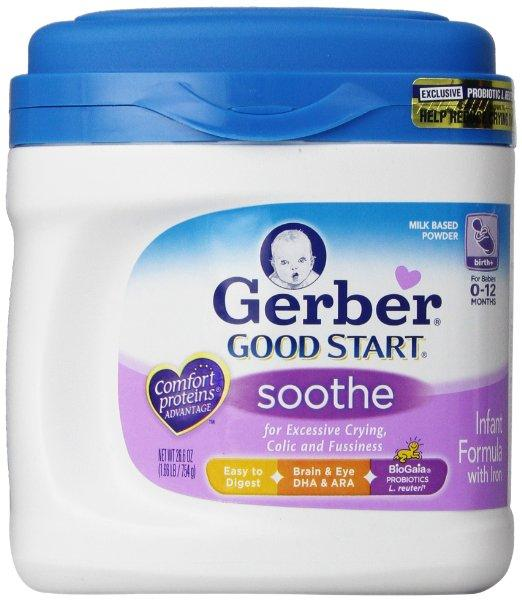 Gerber Good Start Soothe Powder Infant Formula Value Pack, 26.6 Ounce, 4 Count