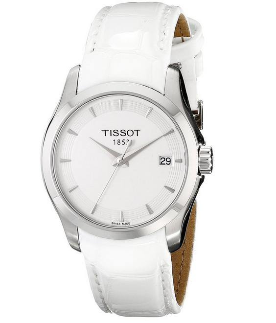 Tissot Women's T0352101601100 Analog Display Swiss Quartz White Watch