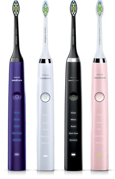 Philips Sonicare HX9332/05 DiamondClean Rechargeable Electric Toothbrush, Black