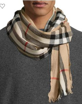 $50 Off $200 Burberry Men's Scarves Purchase @ Neiman Marcus