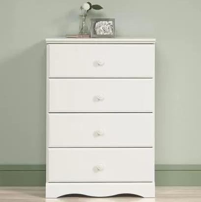 Sauder Storybook 4-Drawer Chest, Soft White