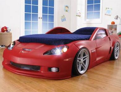 Step2 Corvette Convertible Toddler Bed with Lights