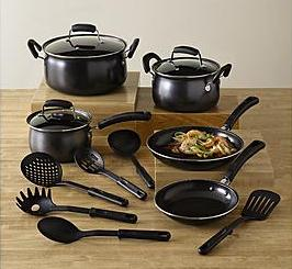 Essential Home 14 Piece Carbon Steel Nonstick Cookware Set