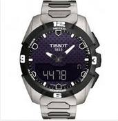 $819 Tissot T-Touch Black Dial Stainless Steel Solar Men's Watch T0914204405100