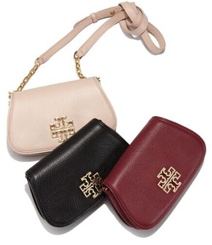 Tory Burch Britten Mini Leather Crossbody Bag @ Neiman Marcus