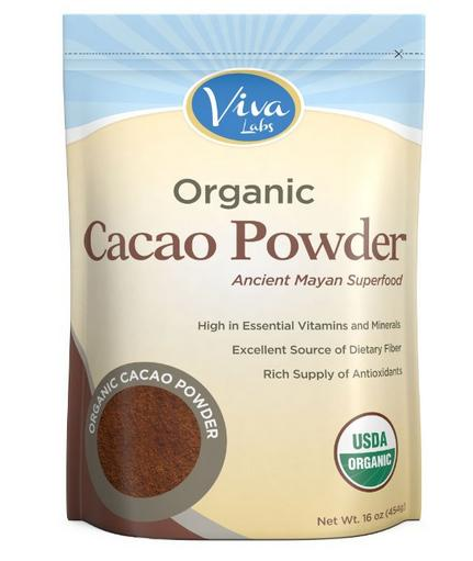 $8.54 Viva Labs - The BEST Tasting Certified Organic Cacao Powder