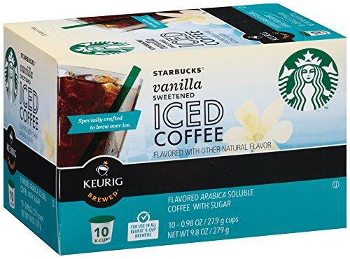$15.86 Starbucks Sweetened Iced Coffee for K-Cup, Vanilla, 60 Count