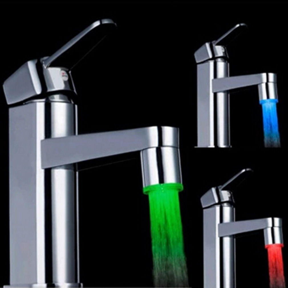 $1.46 Novelty 7 Color RGB Colorful LED Light Water Glow Faucet Tap Head