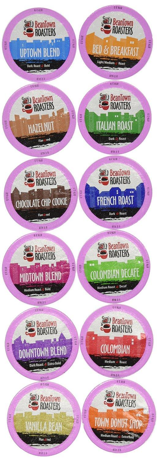 96-Count Beantown Roasters Variety Pack Sampler of 12 Assorted Roasted Coffees