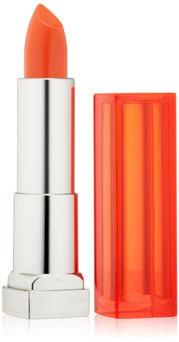 Maybelline New York Color Sensational Vivids Lipcolor, Electric Orange, 0.15 Ounce