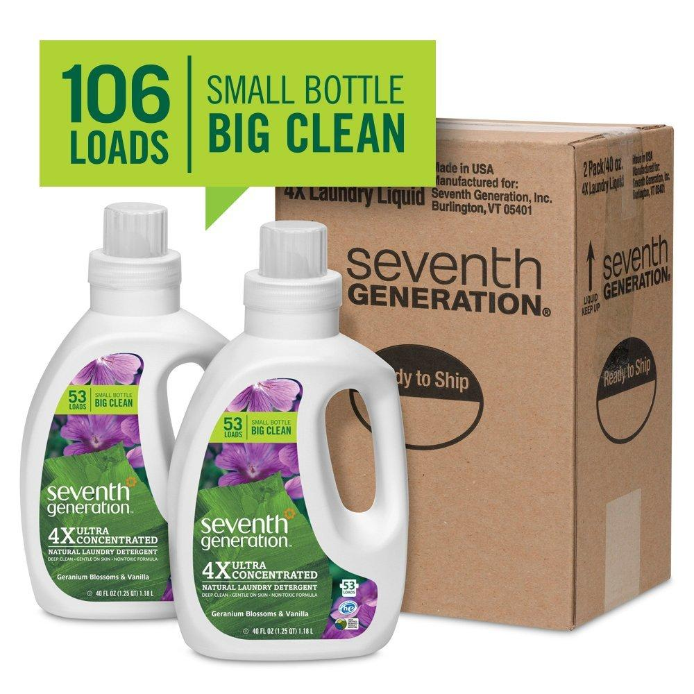 $12.45 Seventh Generation Liquid Laundry 4x, 2 Count