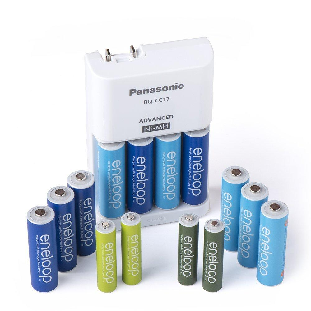Panasonic K-KJ17MZ104A eneloop Special Power Pack, NEW 2100 Cycle 10AA / 4AAA colored cells w/