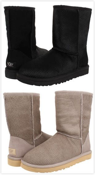 UGG Classic Short Calf Hair Scales Boots On Sale @ 6PM.com