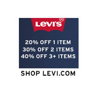 Up to 75% off + $50 Off $150 $100 Off $250 @ Levis
