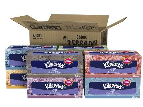 2 Pack Kleenex Ultra Soft Tissues 8 Boxes