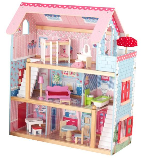 KidKraft Chelsea Doll Cottage with Furniture @ Amaozn.com
