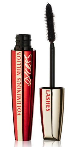 L'Oreal Paris Voluminous Million Lashes Excess Mascara, Blackest Black, 0.31 Ounces