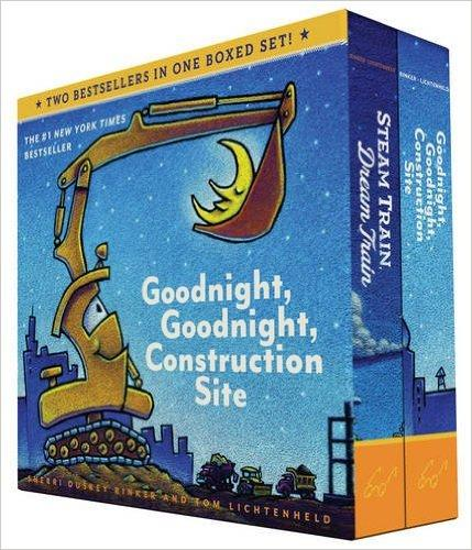 $11.77(原价$15.99) Goodnight, Goodnight, Construction Site和Steam Train, Dream Train硬纸板书两本