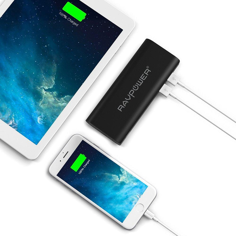Portable Charger RAVPower 10400mAh External Battery Pack Power Bank